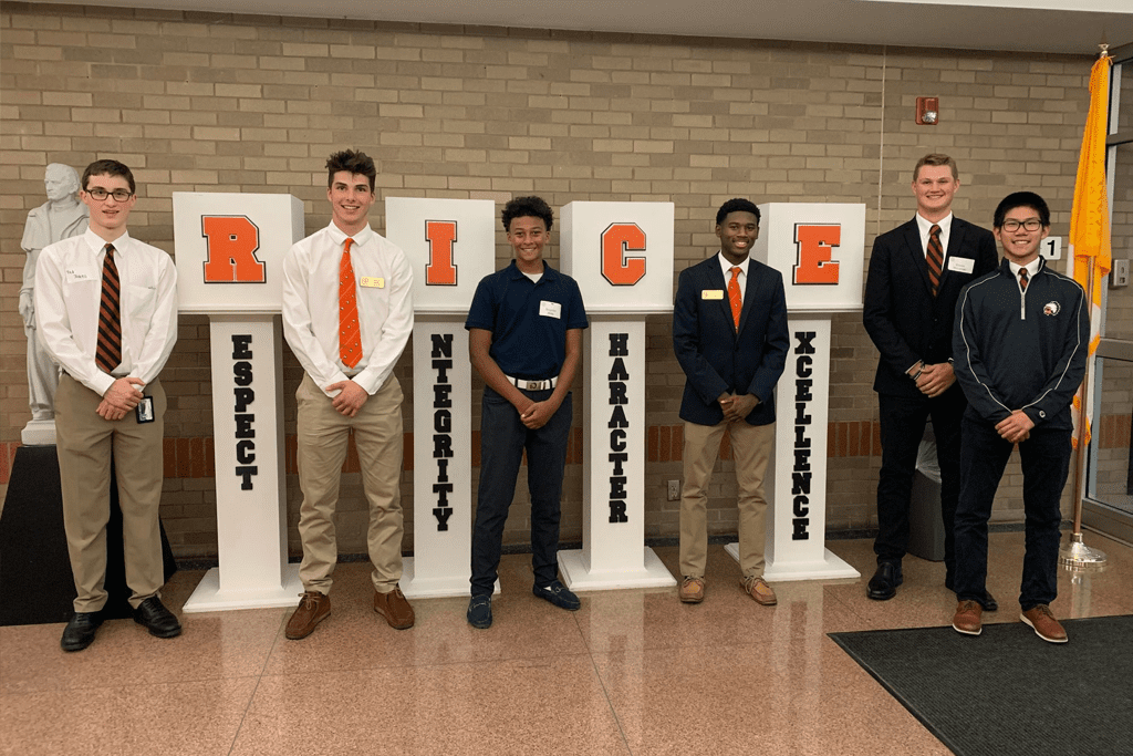 Brother Rice High School private Catholic Bloomfield Hills Mi Respect Integrity Character Excellence Pillars